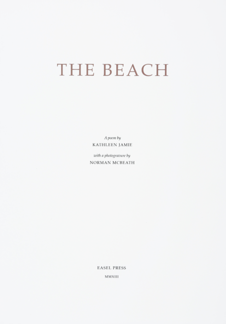 The Beach Title Page